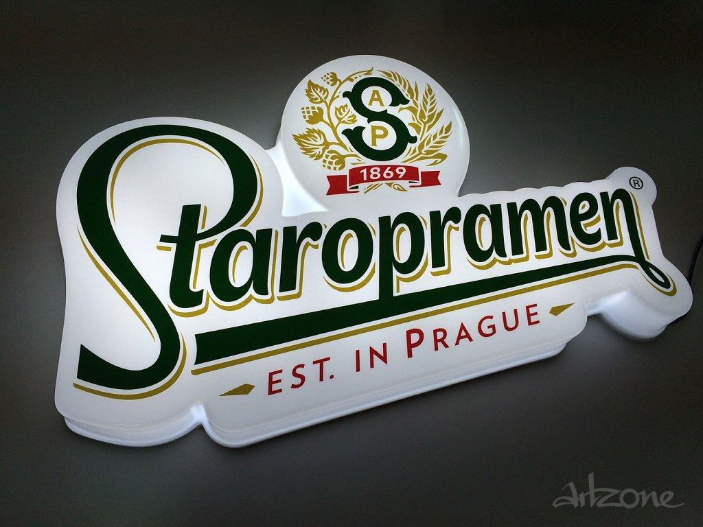 Светеща  табела вакум формована Staropramen