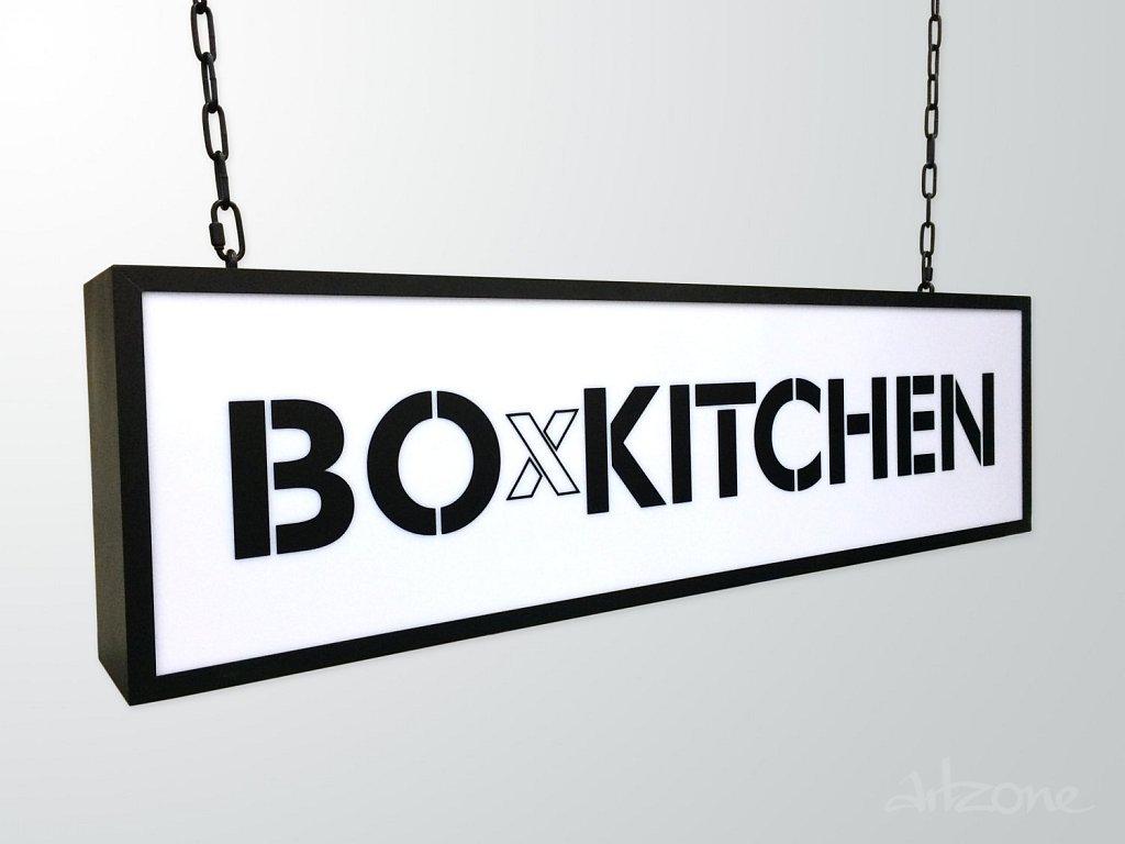 Висяща светеща табела BOX KITCHEN