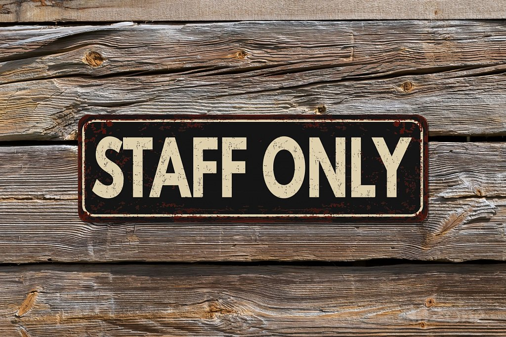 Табела STAFF ONLY STAFF ONLY sign