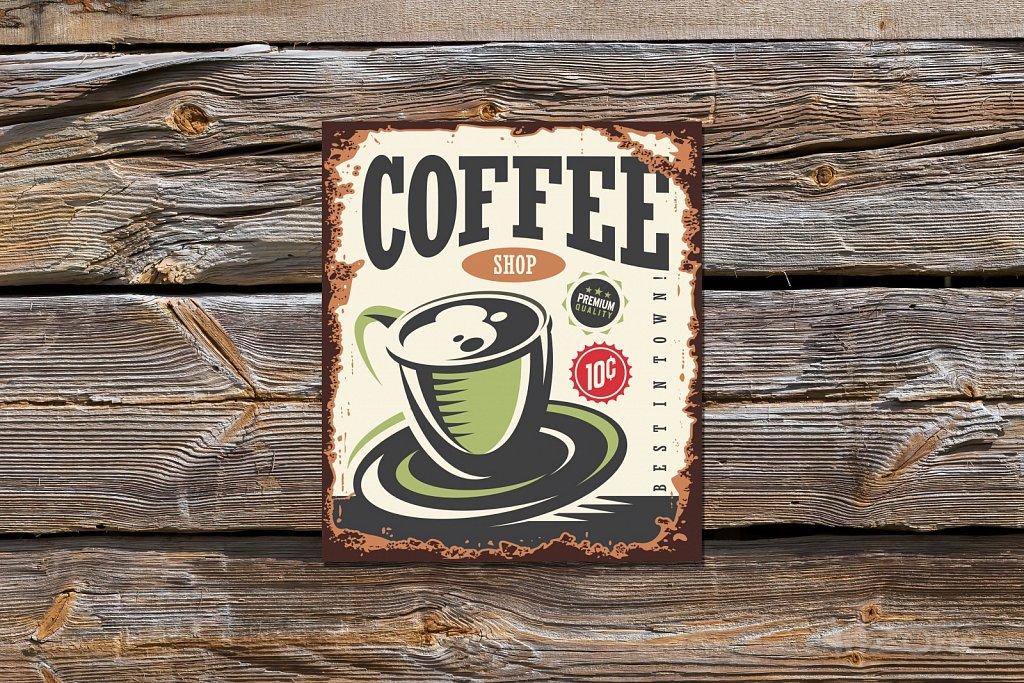 Винтидж Табела Coffee